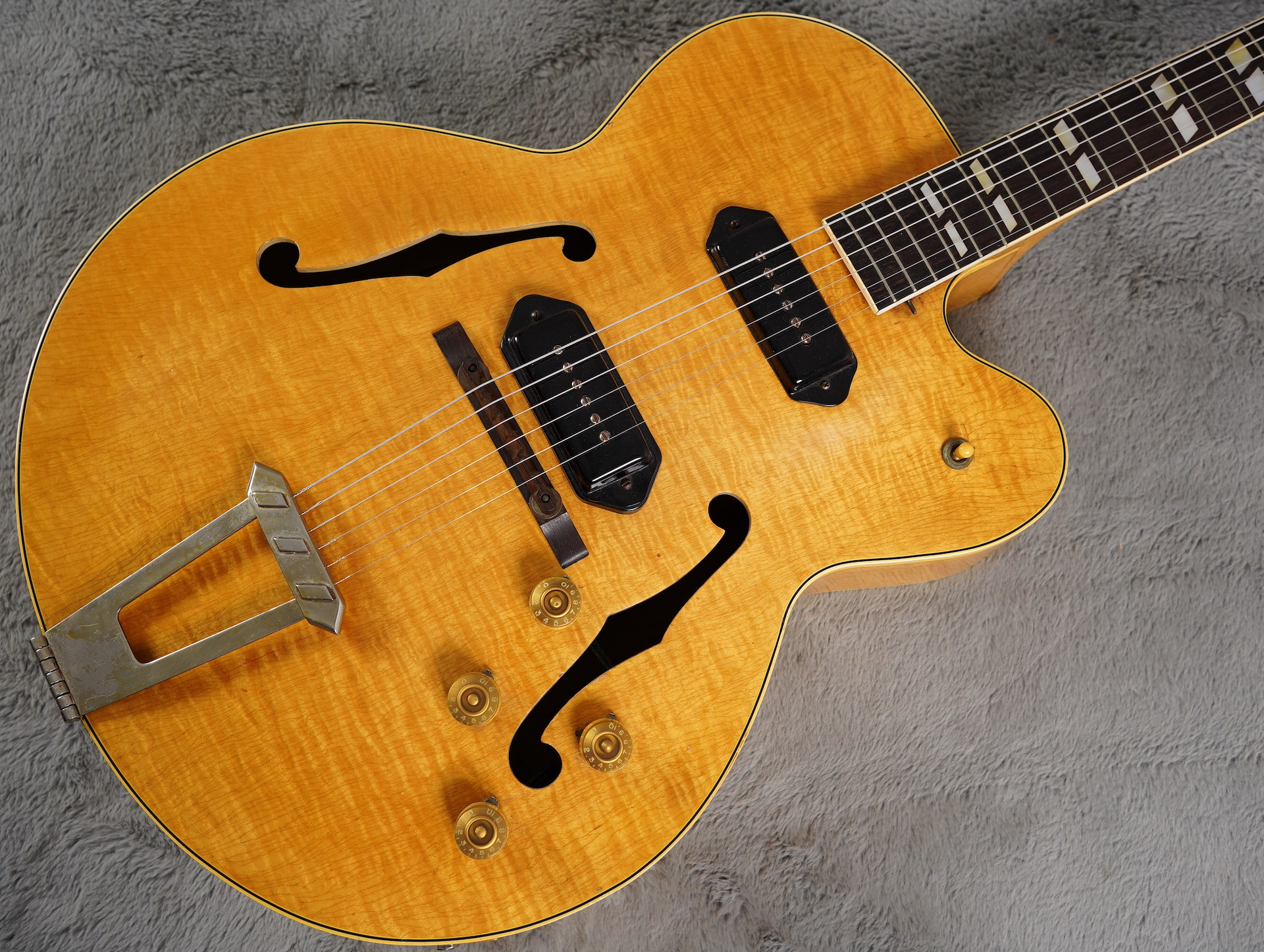 1950 Blonde Gibson ES-350 Stunning Flame + OHSC