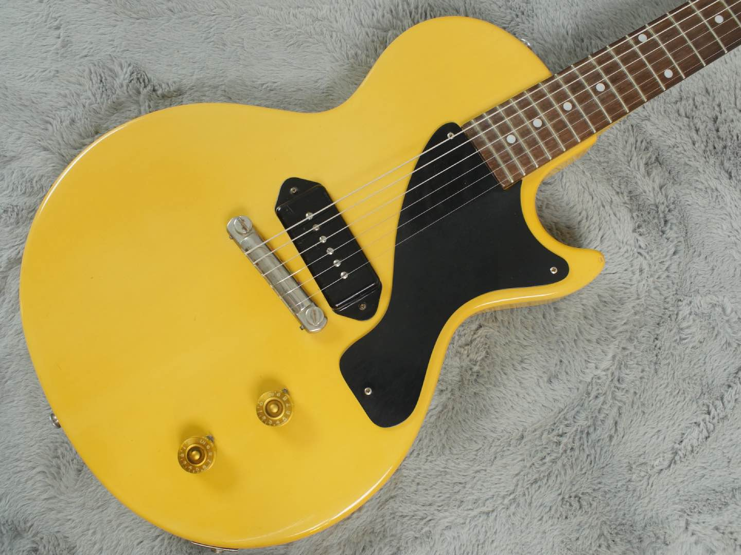 1955 Gibson Les Paul Junior TV Yellow Maple body + OHSC - near MINT