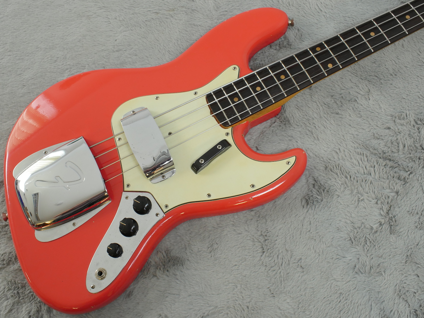 1962 Fender Jazz Bass Fiesta Red + OHSC