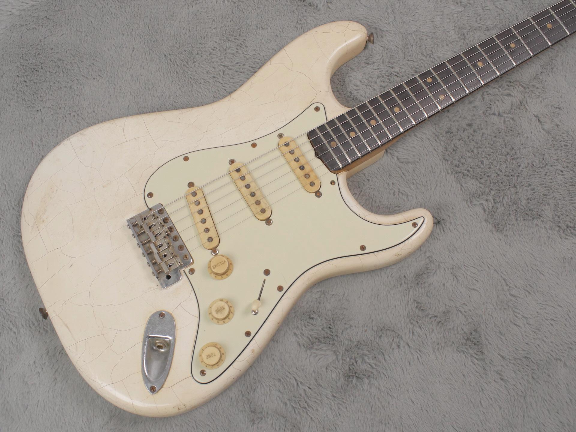 1962 Fender Stratocaster Olympic White refin + HSC