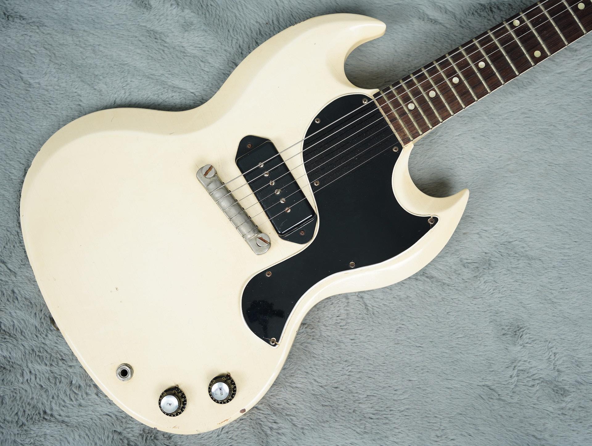 1962 Gibson Les Paul SG Junior white + HSC