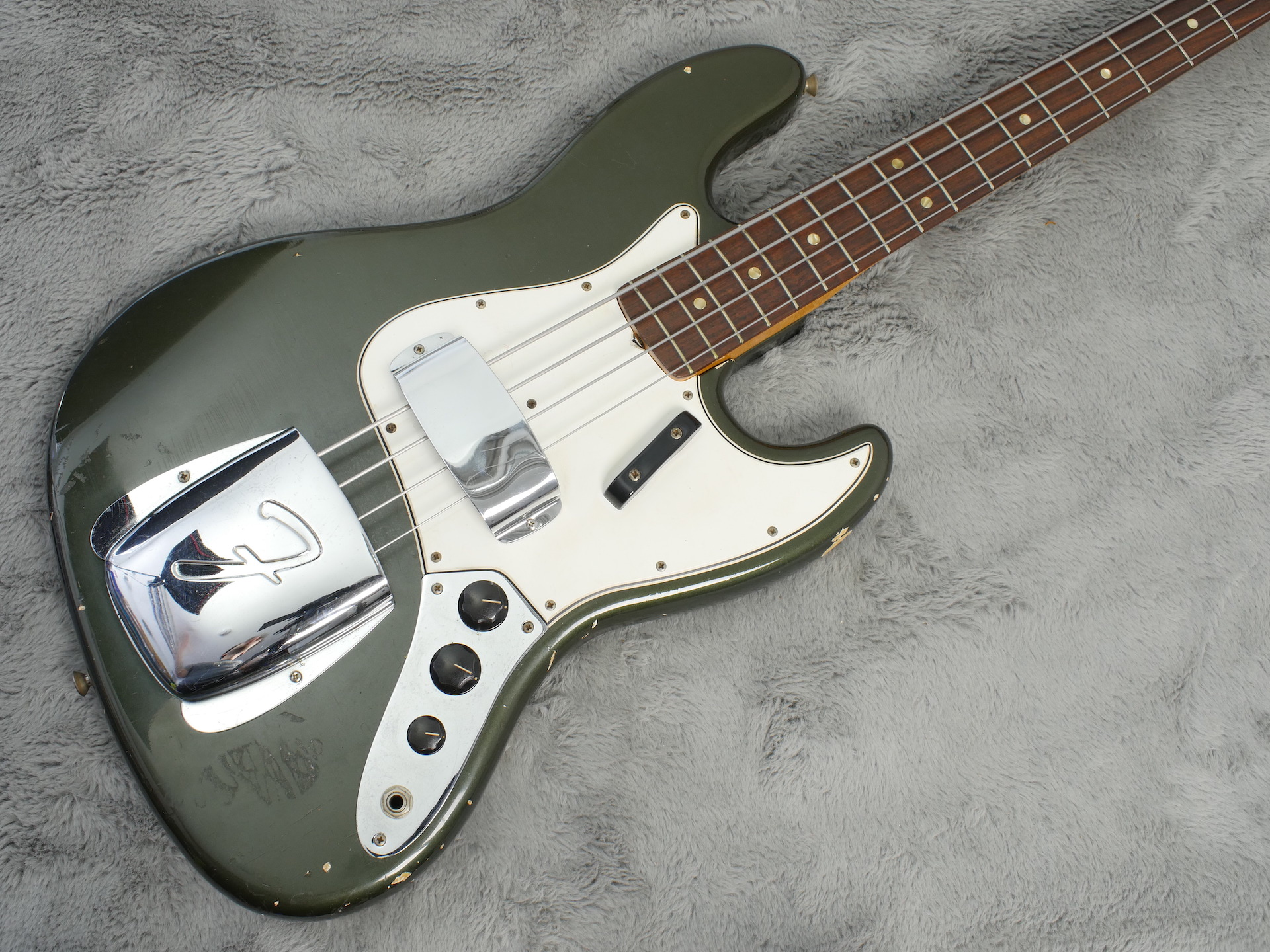 1965 Fender Jazz Bass Custom Colour Charcoal Frost + OHSC
