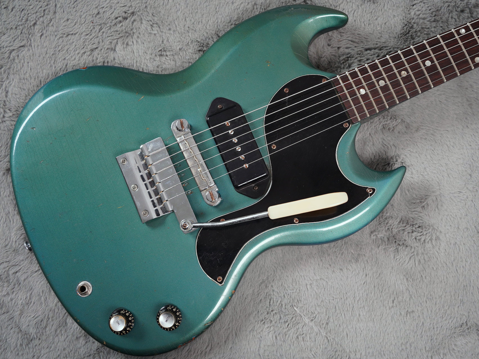1966 Gibson SG Junior Pelham Blue + OHSC