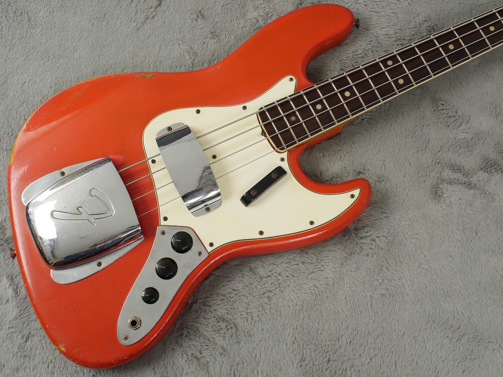 1966 Fender Jazz Bass in Custom Colour Fiesta Red + OHSC