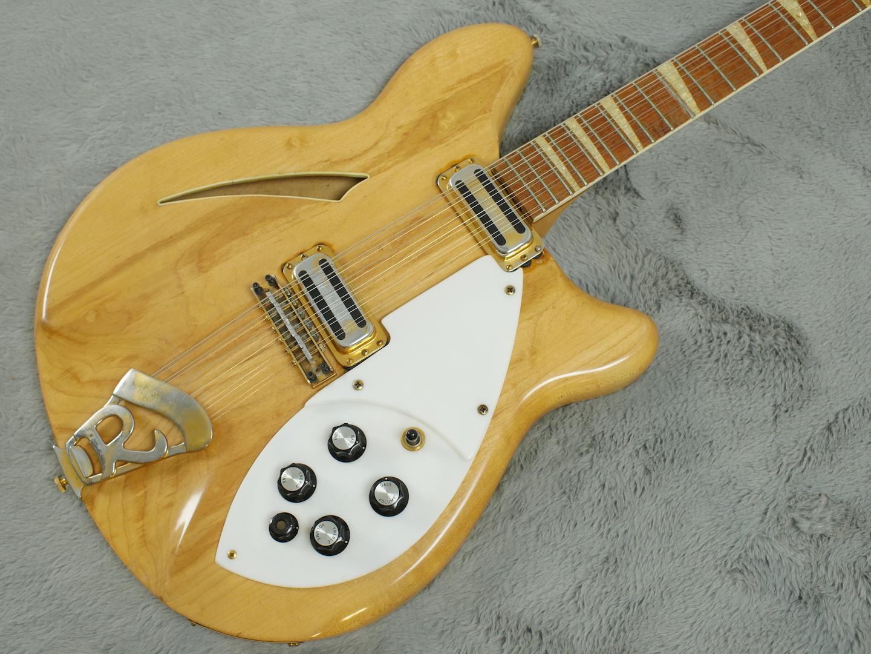 1967 Rickenbacker 360/12 Mapleglo GOLD parts + HSC