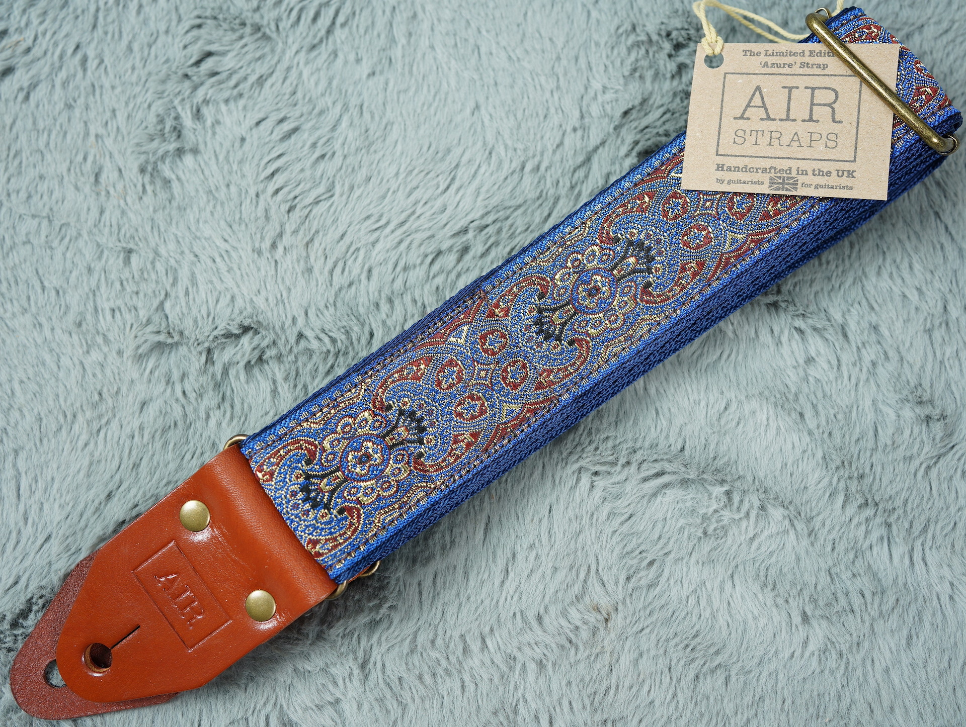 Air Straps Limited Edition 'Azure' Guitar Strap - Free Shipping!