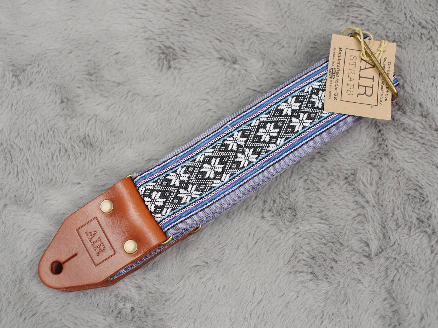 Air Straps Limited Edition 'Norwegian Wood' Guitar Strap - Free Shipping!