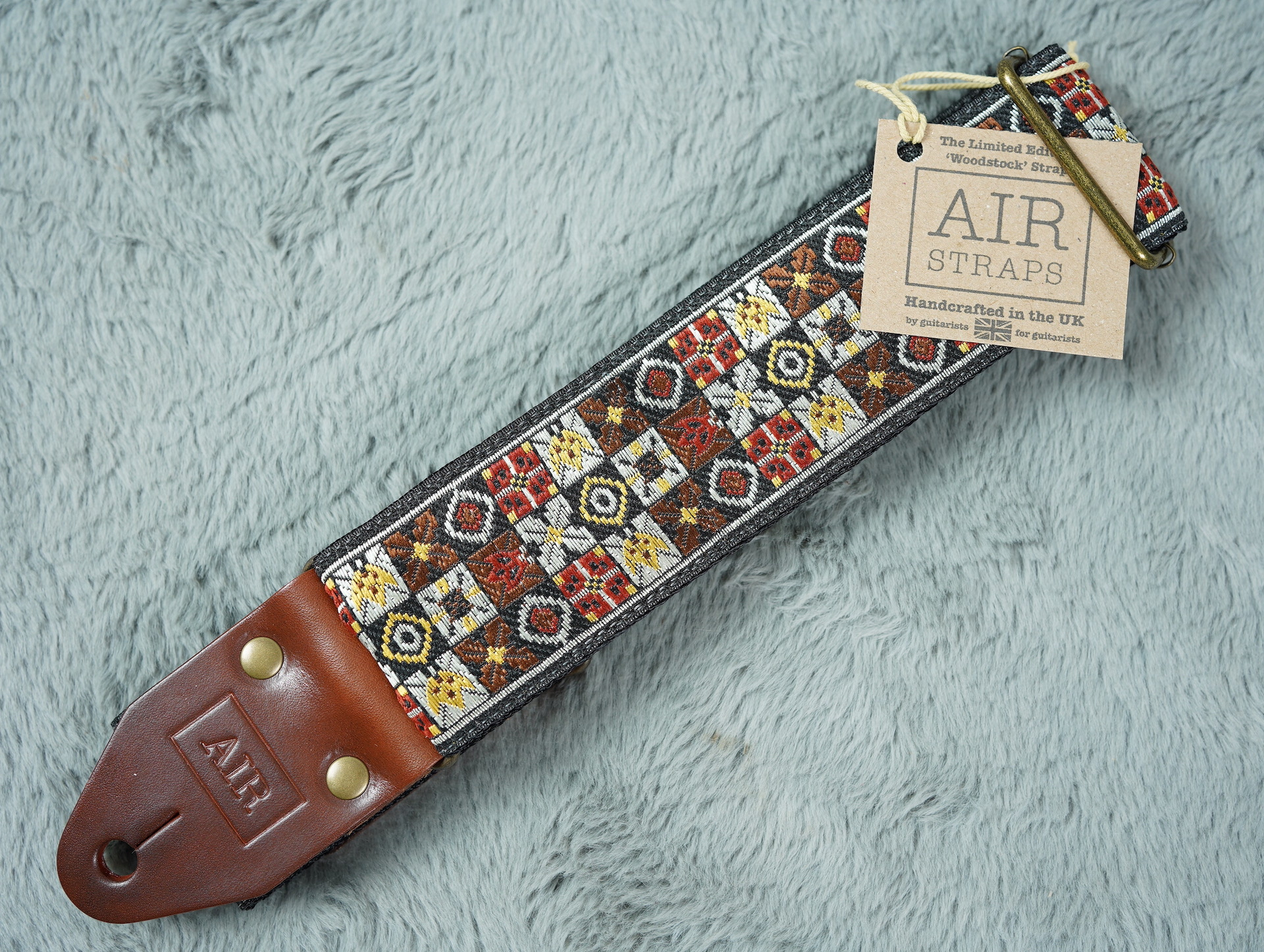 Air Straps Limited Edition 'Woodstock' Guitar Strap - Free Shipping!
