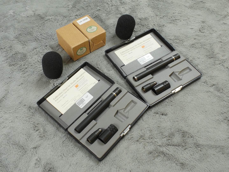 2 x B&K (DPA) 4011 consecutive serial number pair cardioid Mics