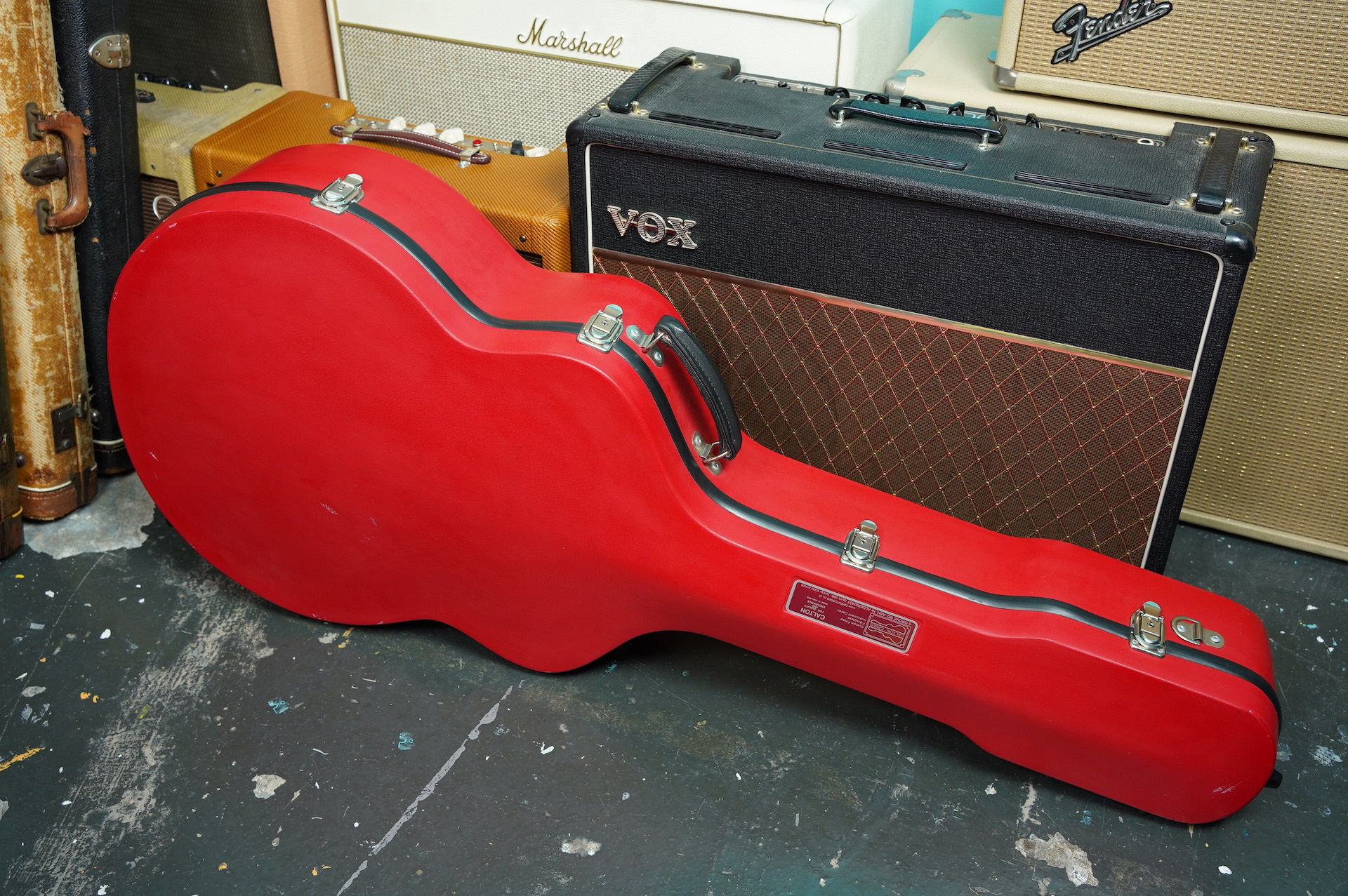 Calton Hard Shell Case for Archtop/Acoustic Guitars