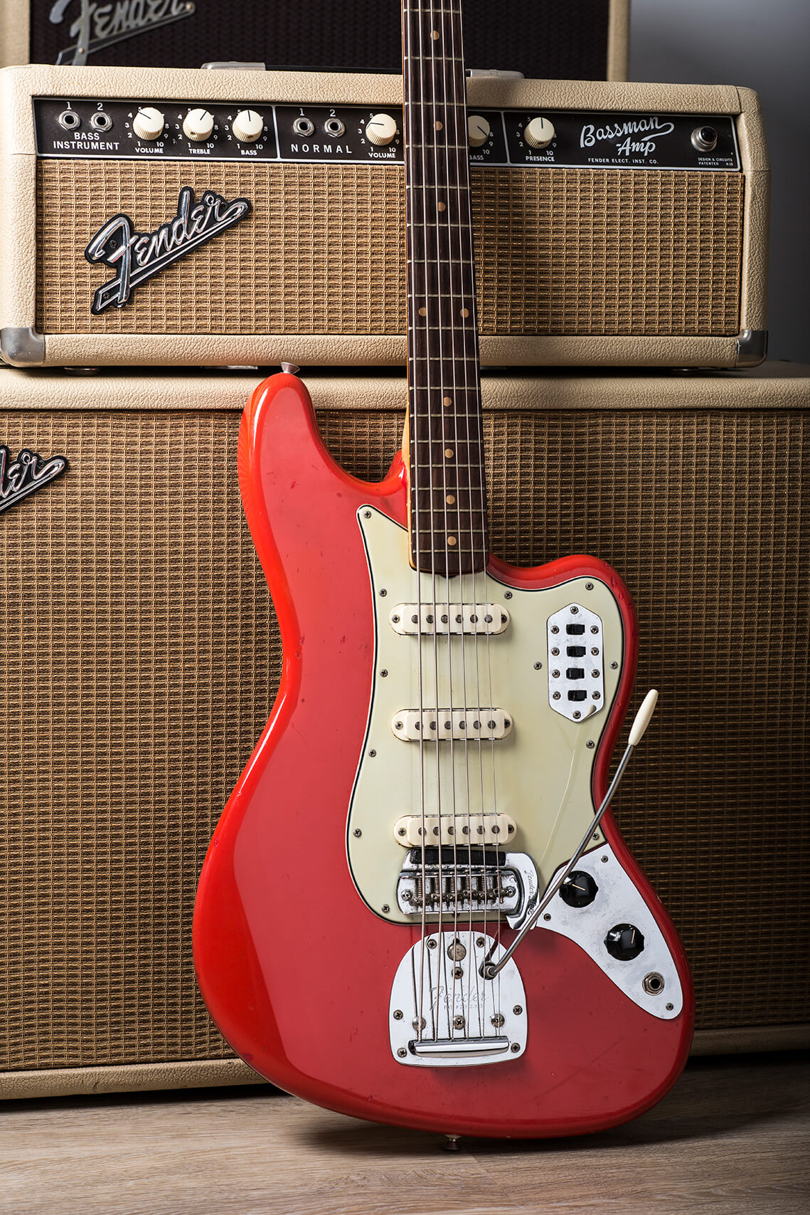 1963 Fender Bass VI Fiesta Red